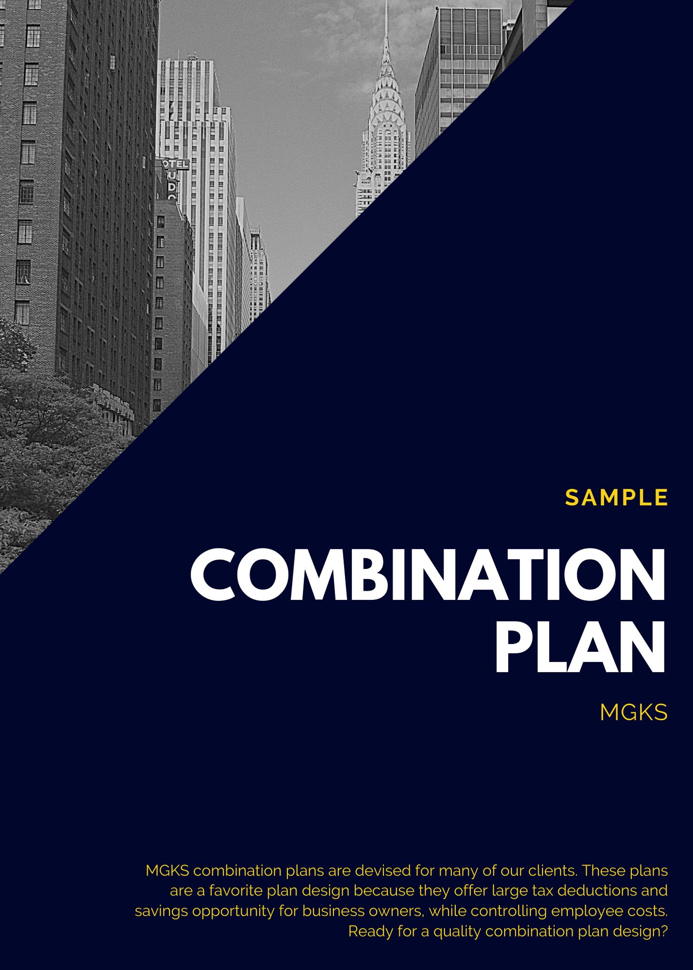 Combination Retirement Plan Sample