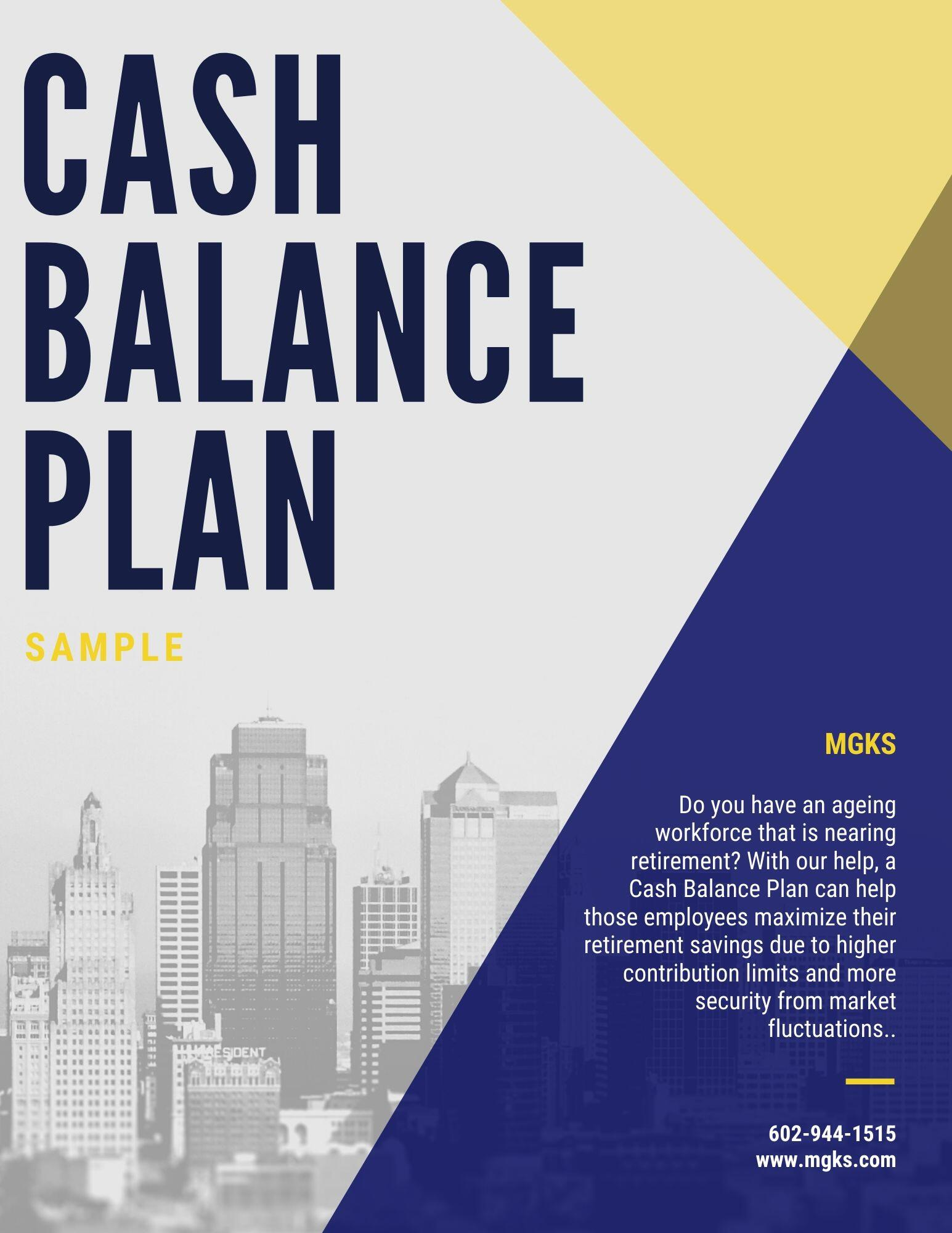 Cash Balance Sample Plan